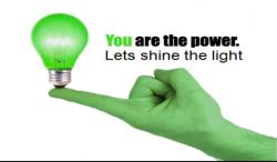 You are the POWER! Lets Shine The Light!!